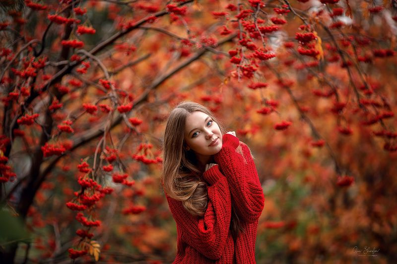 портрет красота девушка арт Осеньphoto preview