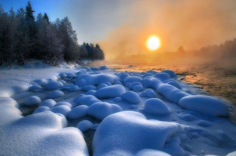 кольский, север,заполярье, пиренга, зима, ***photo preview