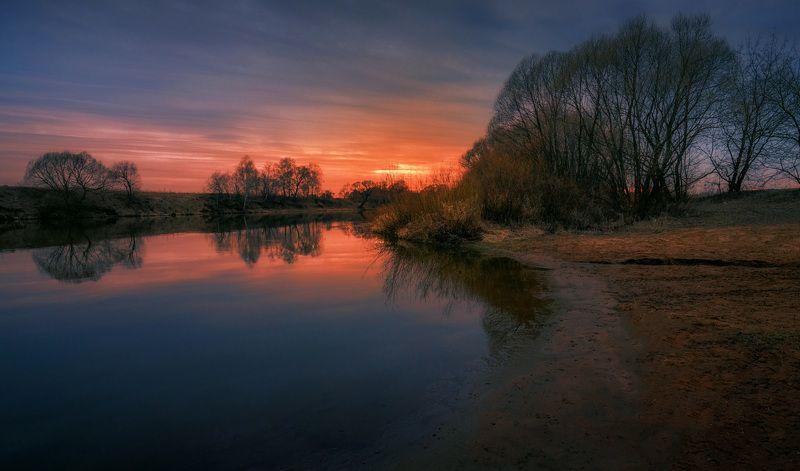 река, москва, вечер, закат У тихой рекиphoto preview