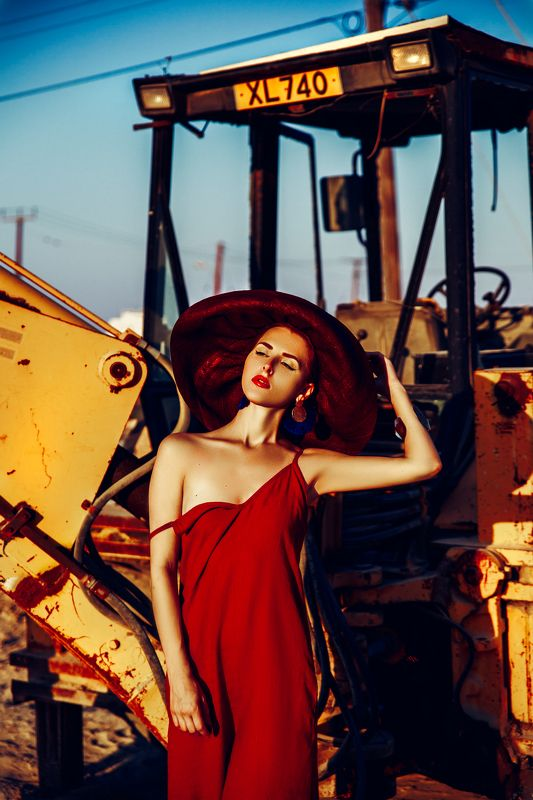 woman, beauty, fashion, art, outdoors Beauty under constructionphoto preview