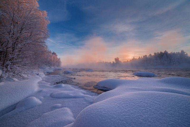 кольский, север,заполярье, пиренга, зима, Дыхание Пиренги.photo preview