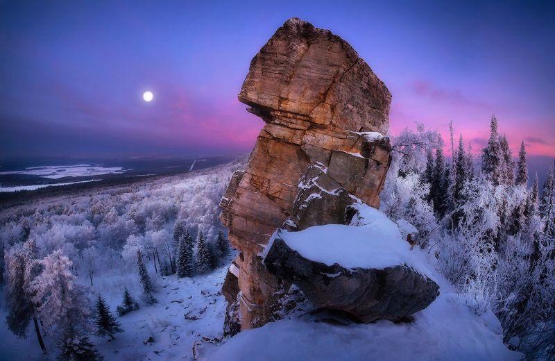 урал, горы, малиновая, белорецк, зима, уральскиегоры Малиновый рассветphoto preview