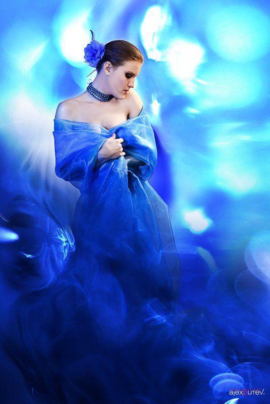 aphrodite,блики, девушка, синий, студия Aphroditephoto preview