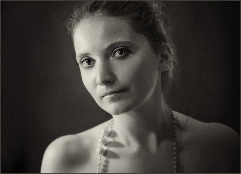 woman, portrait, b&w, девушка Musephoto preview