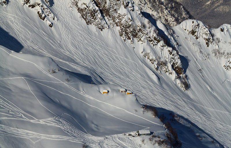 красная, поляна, горы Лыжные узорыphoto preview