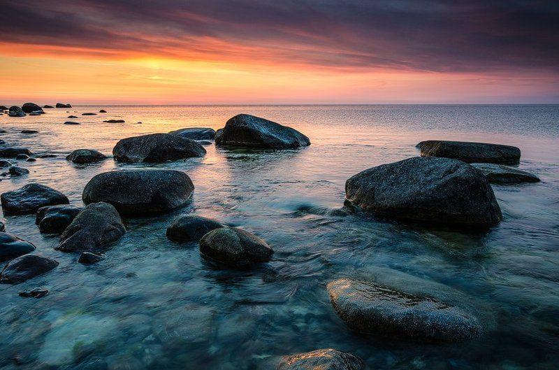 балтика, море, утро, камни, германия Про живую водуphoto preview