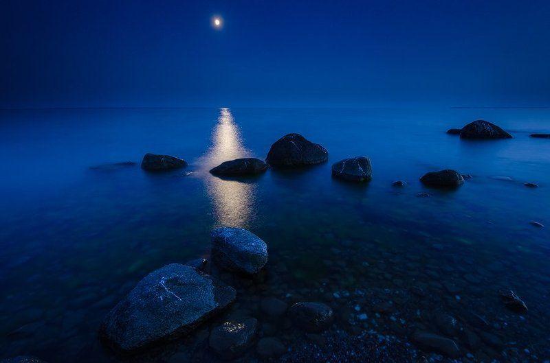 ночь, море, полнолуние, балтика, пейзаж Лунное утроphoto preview