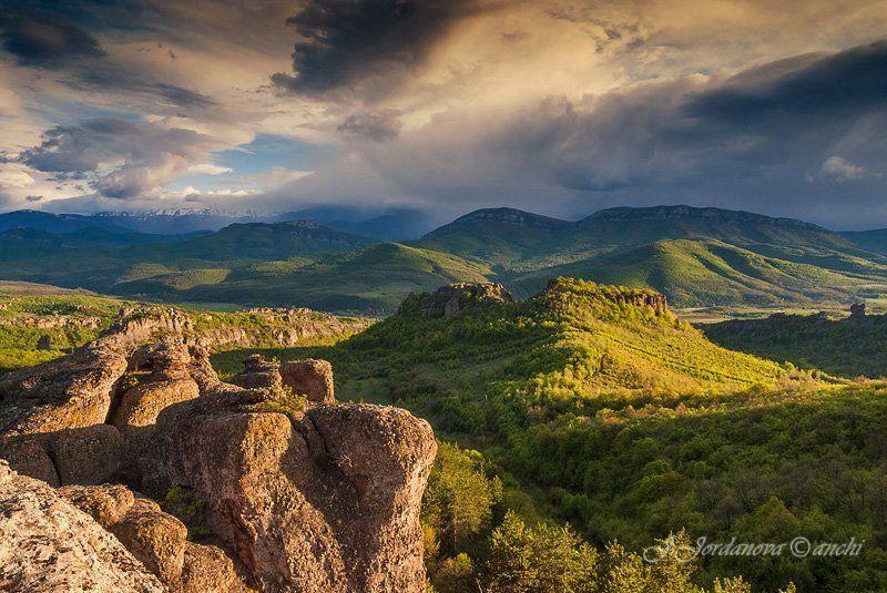 landscape, rocks,bulgaria,belogradchik rocks,evening Еvening of Belogradchik rocksphoto preview