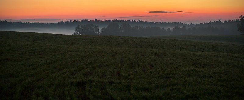 подмосковье, лето, вечер, туман Подмосковные вечераphoto preview
