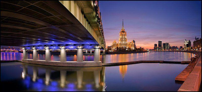москва, рэдиссон, украина, новоарбатский, мост, radisson Выглядывая из-под Новоарбатского. Времена года.photo preview