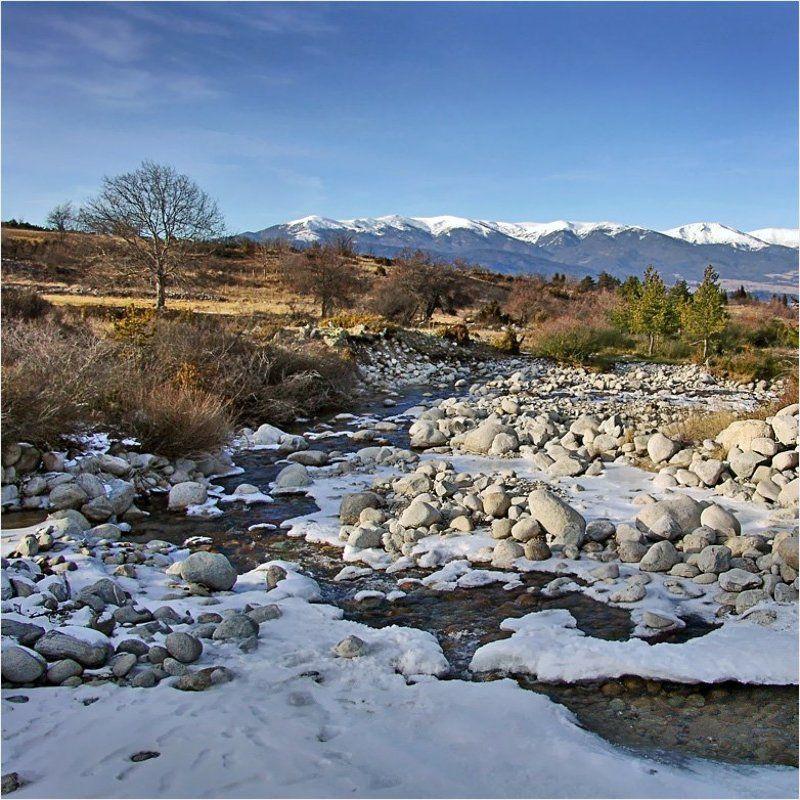 горы, река, банско Болгарский квадратphoto preview