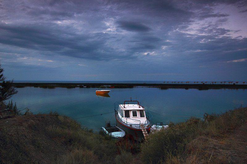 небо, тучи, озеро Закат на Алаколе.photo preview