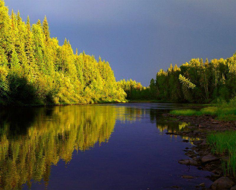 река, лозьва, вечер Уходящееphoto preview