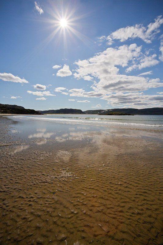 кольский, полуостров, баренцево, море, териберка, отлив Во время отливаphoto preview