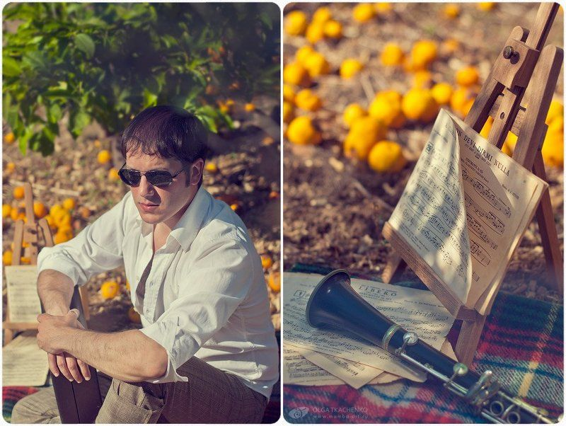 музыка, кларнет, апельсины, плед, ноты, солнце My music...photo preview