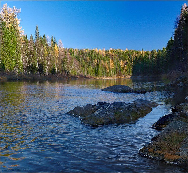 река, большая, сосьва, осень Осенние картинкиphoto preview