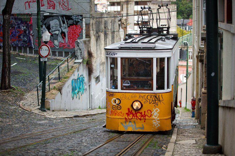 португалия, лиссабон, фуникулер, глория Lisboa. Elevador da Glória.photo preview