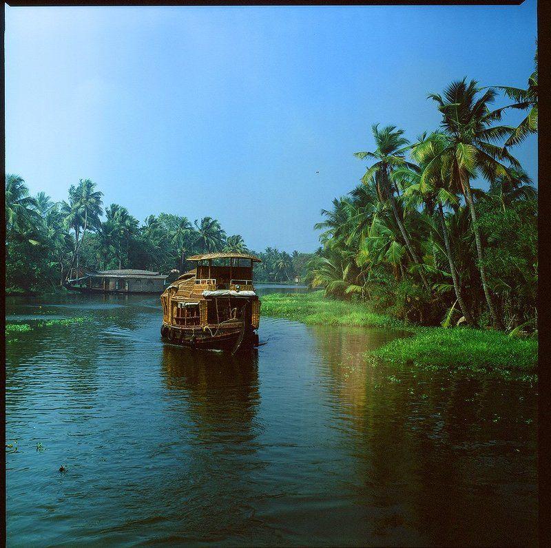 индия, backwaters, лодка, канал Backwatersphoto preview