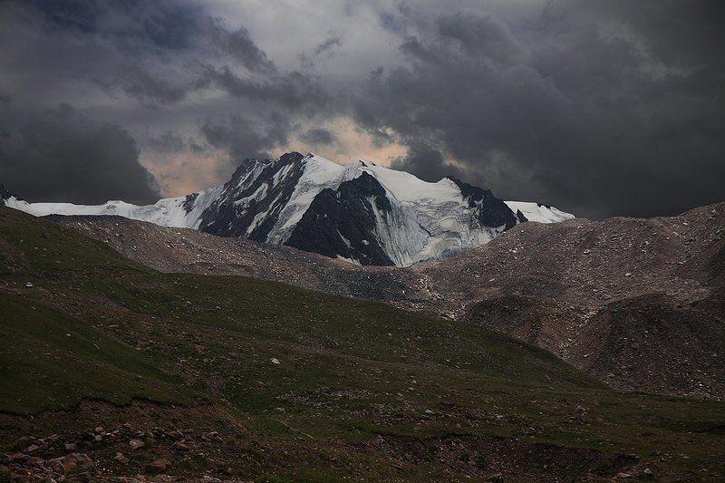 горы, ледник, тучи Вечный ледник.photo preview