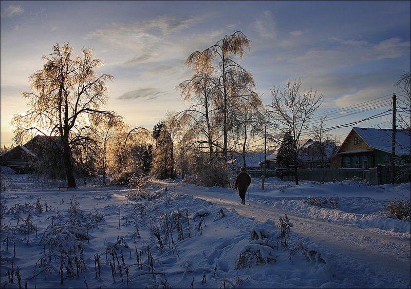 деревня, сальково Вечерняя прогулкаphoto preview