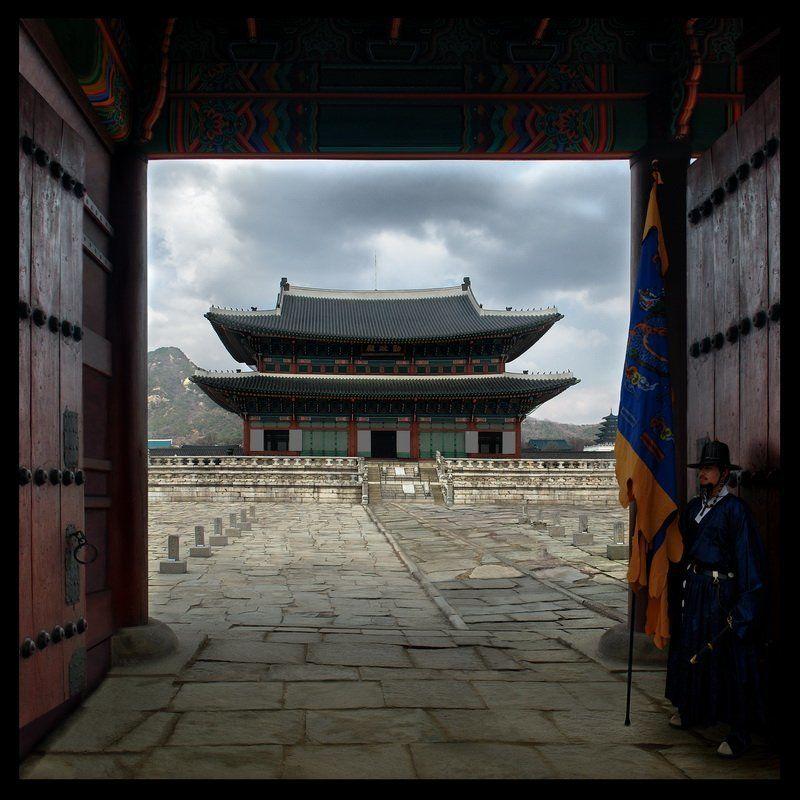 дворец, кенбоккун, сеул, корея Дворец Кенбоккунphoto preview