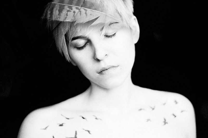 портрет, чб, black and white Спи, я твои нежные сны...photo preview